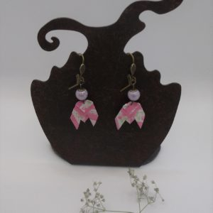 BOOci12 - 18€ - Boucle d'Oreille Origami cigale - Disponible chez Miskatonic Shop