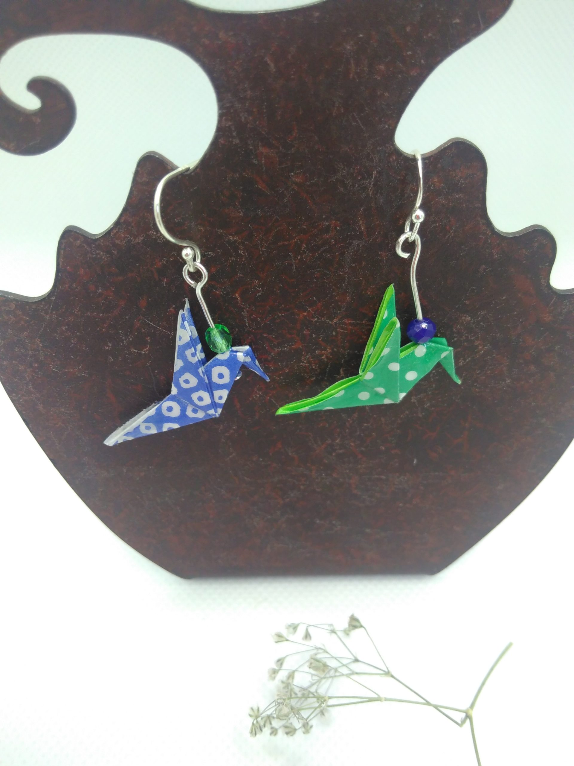 BOOco3 - 20€ - Boucles d'Oreilles Origami colombe - Indisponible
