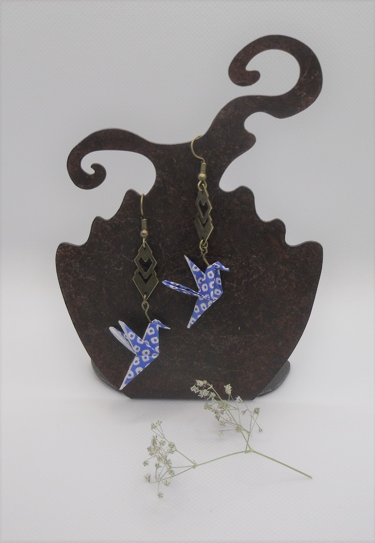 BOOco2 - 25€ - Boucles d'Oreilles Origami colombe - Indisponibles