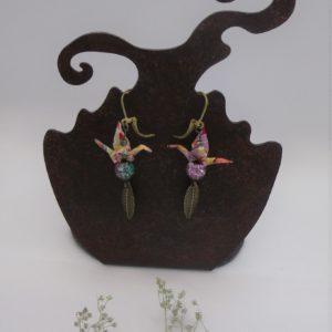 BOOg44 - 25€ - Boucles d'Oreilles Origami grues