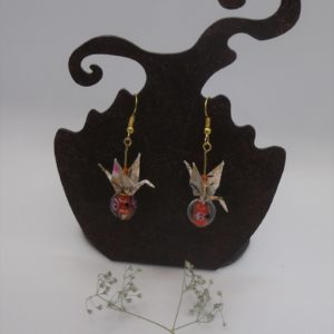 BOOg29 - 20€ - Boucles d'Oreilles Origami grues