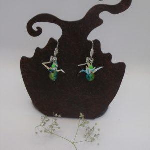 BOOg43 - 20€ - Boucles d'Oreilles Origami grues