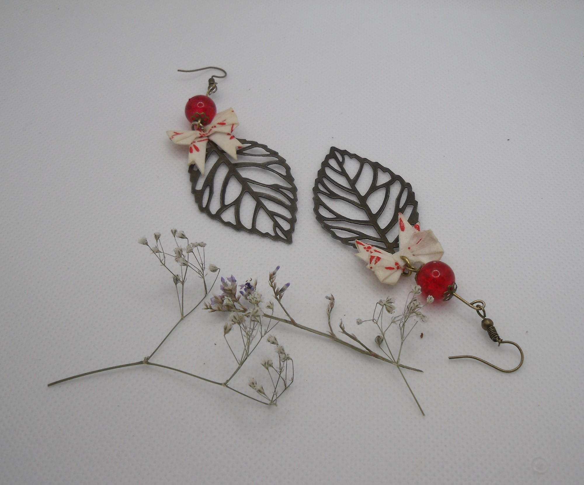 BOOn14 - 25€ - Boucle d'Oreille Origami nœud - Indisponibles