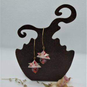 BOOs39 - 20€ - Boucles d'Oreilles Origami samouraï