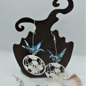 BOOg36 - 25€ - Boucles d'Oreilles Origami grues