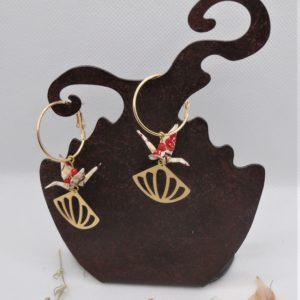 BOOg37 - 25€ - Boucles d'Oreilles Origami grues