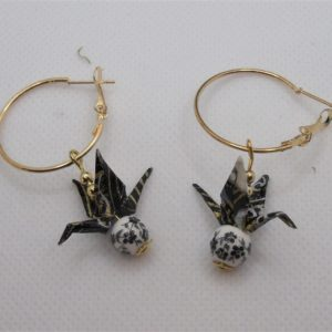 BOOg40 - 25€ - Boucles d'Oreilles Origami grues