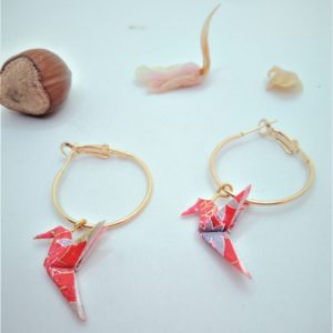 BOOco10 - 20€ - Boucles d'Oreilles Origami colombe