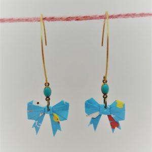 BOOn29 - 25€ - Boucle d'Oreille Origami nœud