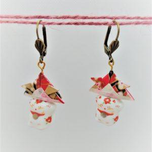 BOOs44 - 25€ - Boucles d'Oreilles Origami samouraï