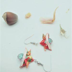 BOOs43 - 20€ - Boucles d'Oreilles Origami samouraï